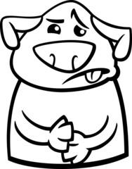 sick dog cartoon coloring page