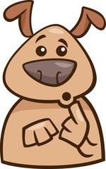 mood surprised dog cartoon illustration