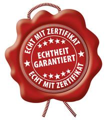 Echtheit garantiert - Echt mit Zertifikat