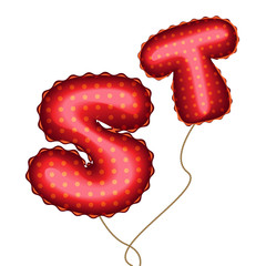 Balloon Letters S and T