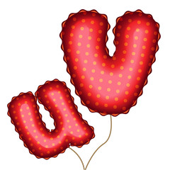 Balloon Letters U and V