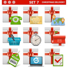 Vector Christmas Delivery Set 7