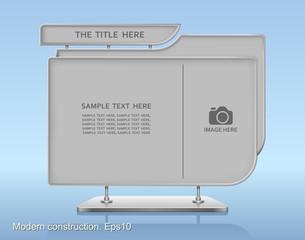 Modern construction, Web element design, Vector illustration