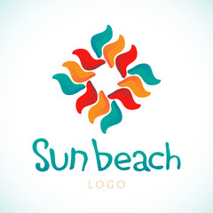 Sun Beach logo vector