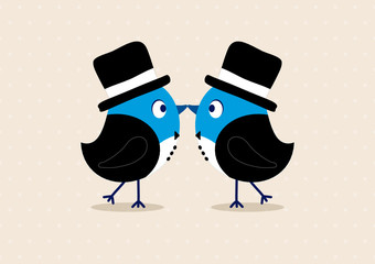 Wedding Birds Gay Men Beige
