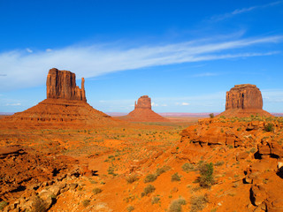 Three Buttes of Monument Valley