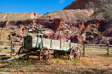 Old cart in Capitol Reef National Park, Utah