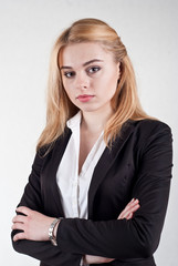 Cute blond business woman