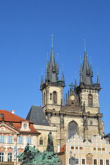 Prague. Church of the maiden Maria before Tyn