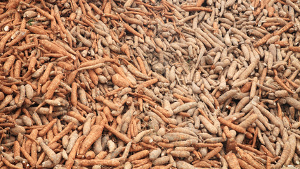 Stack of cassava