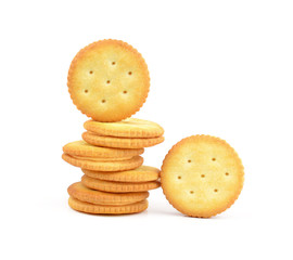 Round cracker stack, isolated