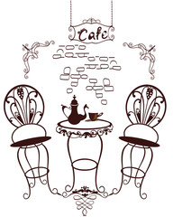 Cafe symbols - table and chairs