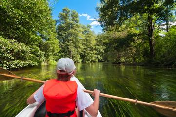Kayaking on the river Rospuda