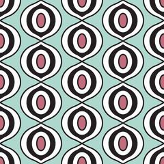 TIger eye retro seamless pattern