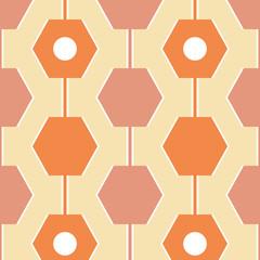 Yellow retro seamless pattern