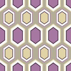 Purple retro geometric seamless pattern