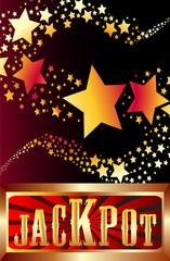 jackpot shooting stars vector illustration