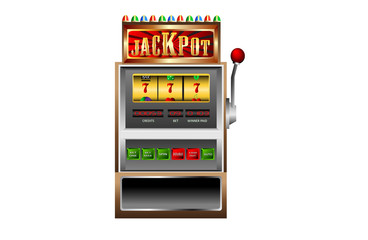 slot machine 777 jackpot vector illustration