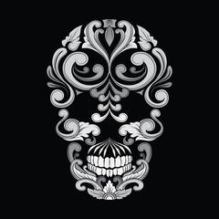Skull Ornamental Indonesian Style