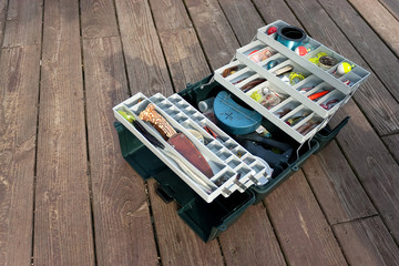 Stocked Fishing Tackle Box