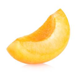 apricot slice isolated on white background.