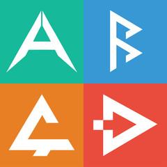 A B C D alphabet. Letter that belong to your business.