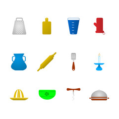Colored icons for kitchenware