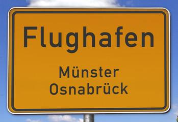 Ortsschild Flughafen Münster/Osnabrück