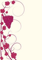 Flourish Muster rote Weinreben mit Trauben