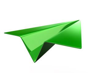 Green paper plane Icon