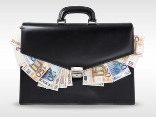 maletín + dinero