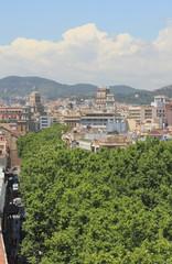 La Rambla Boulevard. Barcelona, Spain