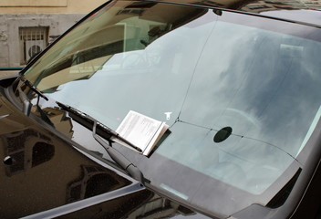 Swiss parking ticket