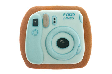 Photocamera gingerbread cookie
