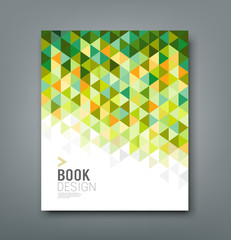 Cover report green triangle geometric pattern design
