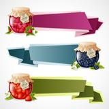 Jam origami banners set