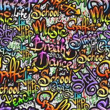 Mot Graffiti seamless pattern