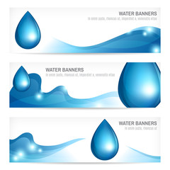 Set of water banners