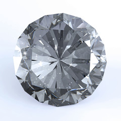 Diamond on white 3d model