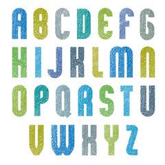 Retro style bold geometric rounded font