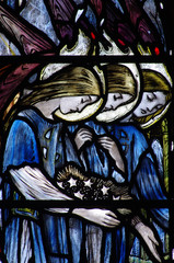 Three angles (grieving) in staiend glass