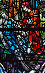 The good Samaritan in stained glass