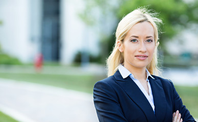 Portrait Confident professional woman, lawyer, corporate office