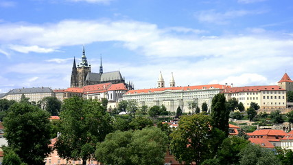 prague castle, time lapse