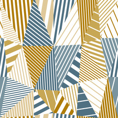 Geometric stripy seamless pattern.