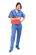Nurse full length isolated on white