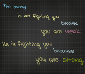 Fighting with enemy