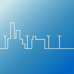 Line city scene.
