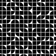 Abstract mosaic retro seamless pattern.
