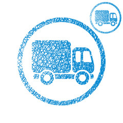 Delivery car small truck vector simple single color icon
